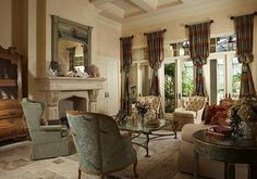 french country living room decor | Novakovich and Associates - Interior Design Naples, Ft. Myers, Marco ...