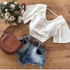 Image shared by Tammy Hartil. Find images and videos about fashion, outfits and clothing on We Heart It - the app to get lost in what you love. Basic Outfits, Girly Outfits, Mom Outfits, Cute Summer Outfits, Outfits For Teens, Casual Outfits, Cute Outfits, Look Fashion, Girl Fashion
