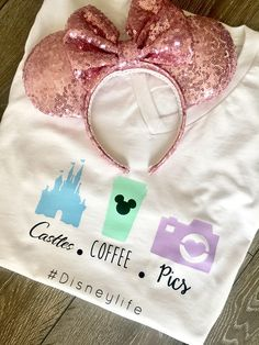 Disney Life Women's Tee Shirt / Disney Shirts / Women's Shirts Disney 2017, Disney Diy, Disney Dream, Disney Style, Disney Magic, Walt Disney, Disney Crafts, Disneyland Trip, Disney Trips