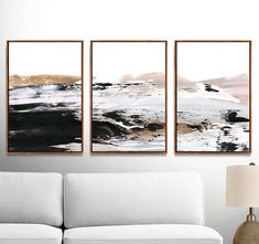 Abstract Art Print Set Set of 3 Prints Gold Print digital Black Abstract, Abstract Wall Art, Abstract Print, Sea Art, Watercolor Artists, Gold Print, White Art, Decoration, Picture Wall