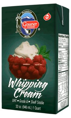 shelf storage Whipping Cream that whips into butter