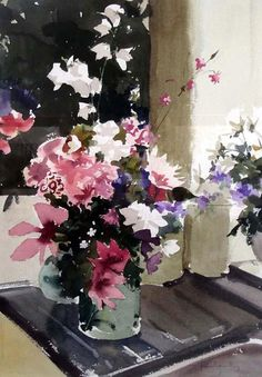 Recently I have been looking at English watercolours, like this beautiful painting by John Yardley.
