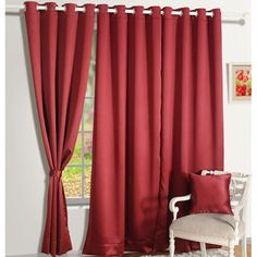 Garnet Maroon Blackout Curtains-1005