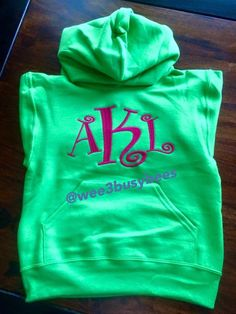 Large monogram hoodies for children and adults @wee3busybees