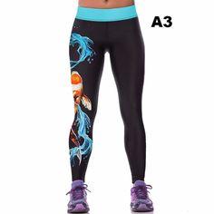 2017 Women Colorful 3D Printed Pants Leggings Stretch Fitness Pencil Pants