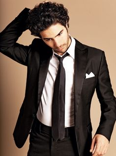 French actor Tahar Rahim mastering the casual tux look