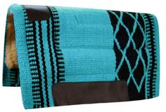 """34""""x36"""" Teal Black Wool Top Western Cutter Style Saddle Pad New Horse Tack  eBay"""