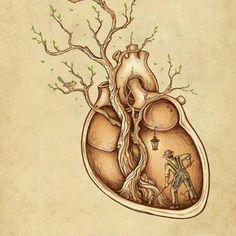 """""""Tree of Life Art"""" - Enkel Dika {anatomical art illustration} Art And Illustration, Illustrations Posters, Love Heart Illustration, Illustration Fashion, Creative Illustration, Street Art, Inspiration Art, Tattoo Inspiration, Typography Inspiration"""