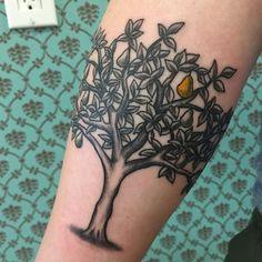 pear tree tattoo