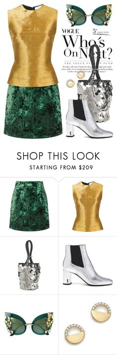 """""""Nov 30th (tfp) 4823"""" by boxthoughts ❤ liked on Polyvore featuring Sandro, Victoria Beckham, Oscar de la Renta, Alexander Wang, Yves Saint Laurent, Dolce&Gabbana, Bloomingdale's and tfp"""