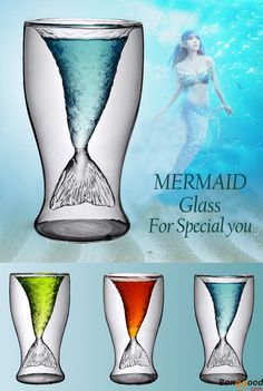 US$10.58+ Free shipping. Mermaid Beer Glass Mug. About 100ML. Such a cute mug, isn't it? Buy at banggood:))
