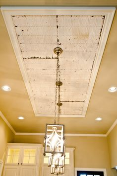 Tin ceiling with pendants Beacon Lighting, Lantern Pendant, Apartment Ideas, Light Fixtures, Lanterns, Pendants, Ceiling Lights, Interiors, Building