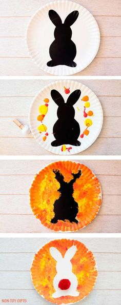 fingerprint carrot and bunny craft for kids at easter time easter