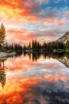 Cathedral Lake at Yosemite National Park, California