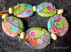 jasmin french    above the clouds    lampwork by jasminfrench
