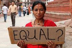 -The photo of protest against gender discrimination Not only does caste system birthed the discrimination based on class, but also created the gender gap between man and woman. Woman are saw as inferior to man and should be obedient to husband.