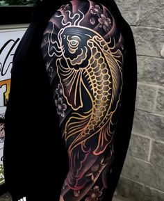 This is one of my favorite tattoos on In. -You can find Tattoos and more on our website.This is one of my favorite tattoos on In. Japanese Tattoo Art, Japanese Tattoo Designs, Japanese Sleeve Tattoos, Tattoo Designs Men, Japanese Dragon Tattoos, Black Tattoo Cover Up, Cover Up Tattoos, Body Art Tattoos, Arabic Tattoos