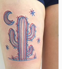 tattoo, 3d, and cactus image