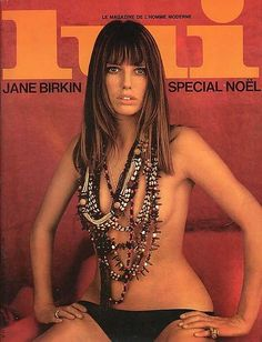 Jane Birkin in Lui Magazine cover photographed by Francis Giacobetti, December 1974