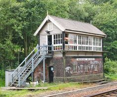 Signal box at Hebden Bridge in Calderdale, West Yorkshire