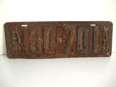 Vintage license plate MN 1921 rusty home decor by yourfind on Etsy, $14.00