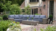 Waterproof cushions on Bridgman all weather rattan furniture