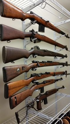 Only bummer is theres almost zero security. Ww2 Weapons, Military Weapons, Battle Rifle, Hunting Rifles, Cool Guns, Guns And Ammo, Shotgun, Firearms, Hand Guns