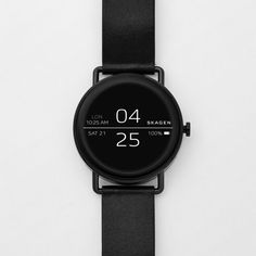 """Danish watch brand Skagen's first touchscreen smartwatch pairs minimalist, Scandinavian design with Android Wear features, including a digital assistant named """"Dan"""". Skagen, Wearable Device, Wearable Technology, Stylish Watches, Cool Watches, Luxury Watches, Unusual Watches, Elegant Watches, Sport Watches"""