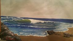 Acrylic painding 15/11/2015 #painting #art Waves, Painting Art, Outdoor, Outdoors, Outdoor Games, Art Paintings, The Great Outdoors, Painting