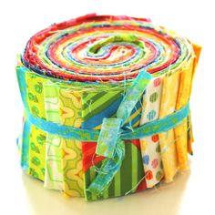 """aq-140-1068 20 x (2,5"""" x 43"""" - ~ 6,35 cm x 110 cm) Jelly Roll - kräftige Farben - 20 verschiedene Stoffe, Stoffzusammenstellung variiert"""