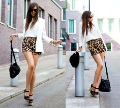 "Style Scrapbook: LOOK OF THE DAY ""LEOPARD SHORTS"""