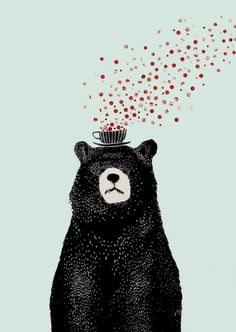 Самые популярные тэги этого изображения включают: bear, art, wallpaper и tea