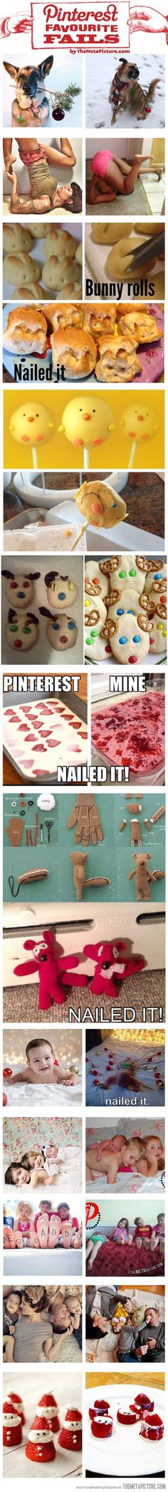 "I don't know why but this struck me as absolutely hilarious. I was laughing tears. What a good reminder of how easy it is to fall short of ""Pinterest Perfection"". At least we try!...lh"