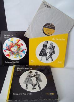 Time Life The Swing Era Music of 1941-1942 3 Records 1 Book Set Dorsey Bros USA #BigBandSwing