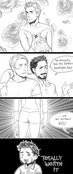 superfamily by ~CookiesForBreakfast Spideypool, Superfamily Avengers, Stony Avengers, Stony Superfamily, Avengers Comics, Avengers Memes, Marvel Memes, Deadpool X Spiderman, Batman