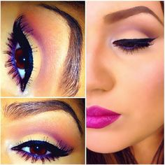 Makeup of the day: Violet Recovery by rubysojeda. Browse our real-girl gallery #TheBeautyBoard on Sephora.com & upload your own look for the chance to be featured here! #Sephora #MOTD