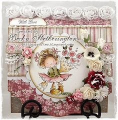 LOTV - Rosie Posy by Becky Hetherington Card Making Tips, Pretty Cards, Kids Cards, Homemade Cards, Cardmaking, Floral Wreath, Lily, Paper Crafts, Create
