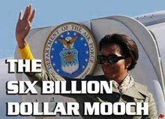 Formerly middle class woman now in the White House robbing the country blind.