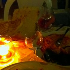 Seafood dinner in Sardinia! Lovely