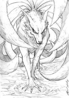 Naruto Challenge Day 25- favorite bijuu: Kurama the 9 tail fox. He's so corrupt and evil and creepy I just love it!