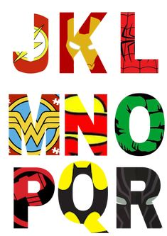 Free Printable Superhero Alphabet Letters - Friday Freebie * Party with Unicorns