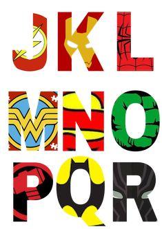 Free Printable Superhero Alphabet Letters - Friday Freebie * Party with Unicorns