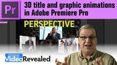 3D title and graphic animations in Adobe Premiere Pro - YouTube