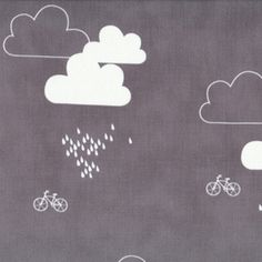 Bicycles and Clouds in charcoal