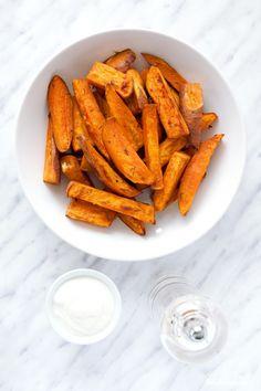 Crispy Baked Sweet Potato Fries.