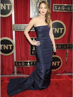 Jennifer Lawrence in Dior #SAGAwards 2013