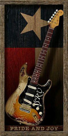 WB Johnston - Stevie Ray Vaughan Art for Sale Easy Guitar, Guitar Tips, Cool Guitar, Guitar Lessons, Fender Stratocaster, Fender Guitars, Srv Guitar, Guitar Art, Guitar Scales