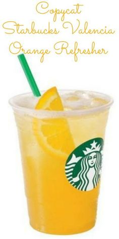 Hooray! Summer's here! And nothing says summer more than a refreshing Iced Valencia Orange Refresher! Try out this copycat recipe.
