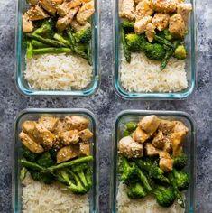 Honey Sesame Chicken Lunch Bowls | Sweet Peas and Saffron