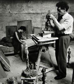 Liberman, Alexander - Alberto Giacometti and  Annette Arm (c. 1950)